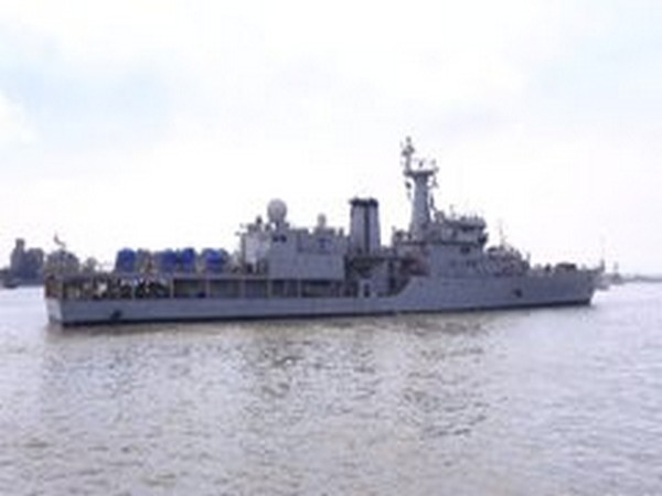 The Indian Navy Ship Savitri carrying two plants arrived at Chattogram harbour in Bangladesh on Thursday.