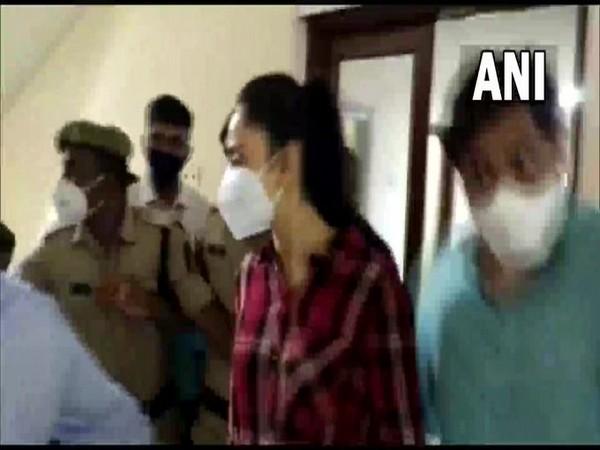 Actor Rakul Preet Singh arrives at the office of Enforcement Directorate