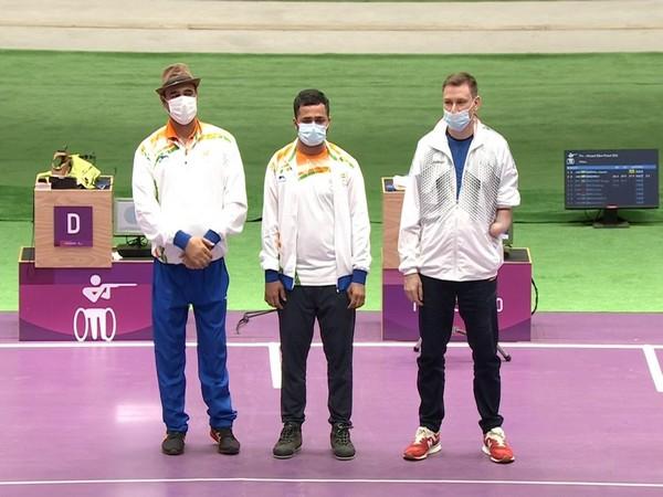 Manish Narwal, Singhraj Adhana, and Sergey Malyshev (Photo: Screengrab vis Paralympics' YouTube)