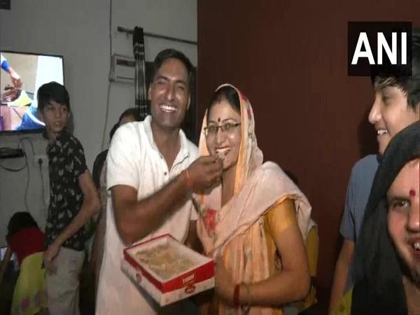 A visual of the celebrations in Faridabad, Haryana (Photo/ANI)