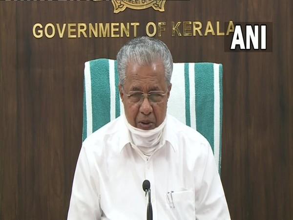 Kerala Chief Minister Pinarayai Vijayan addressing a press conference in Thiruvananthapuram on Saturday. [Photo/ANI]