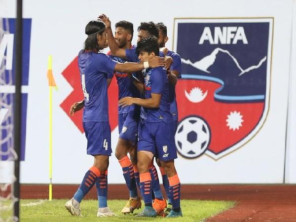 India defeat Nepal (Photo/ Indian Football Team Twitter)