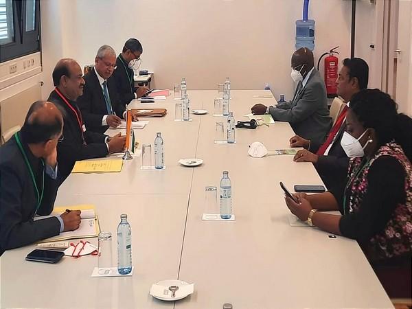 Lok Sabha Speaker Om Birla met National Assembly speaker of Guyana Manzoor Nadir