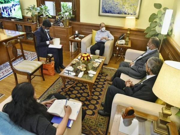 Foreign Secretary Harsh Vardhan Shringla on Tuesday met Bangladesh Information Minister Hasan Mahmud