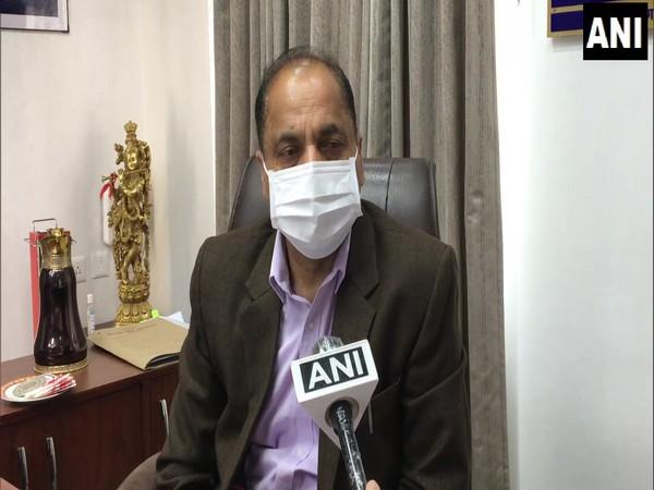 Himachal Pradesh Chief Minister Jai Ram Thakur speaking to ANI