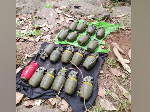 Recovered grenades from Poonch district.