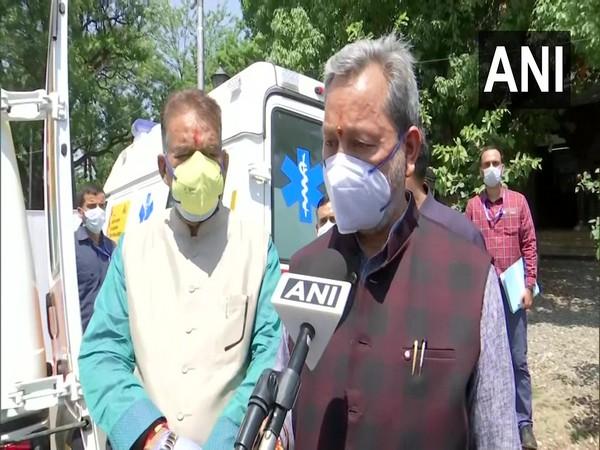 Uttarakhand Chief Minister Tirath Singh Rawat speaking to ANI