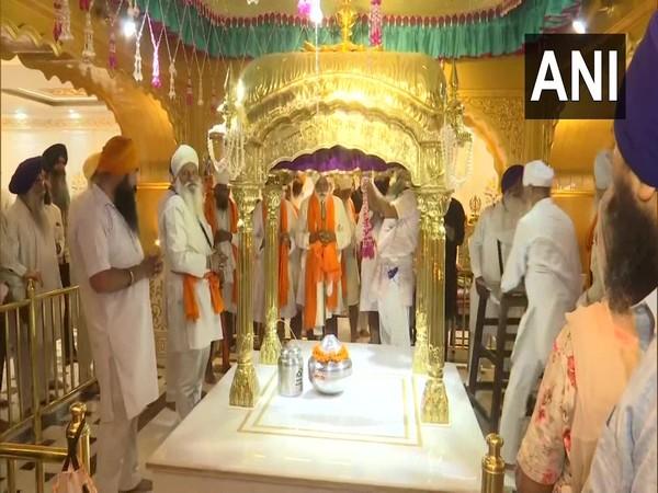 A 'paath' being recited at a Gurudwara in Punjab. (Photo/ANI)