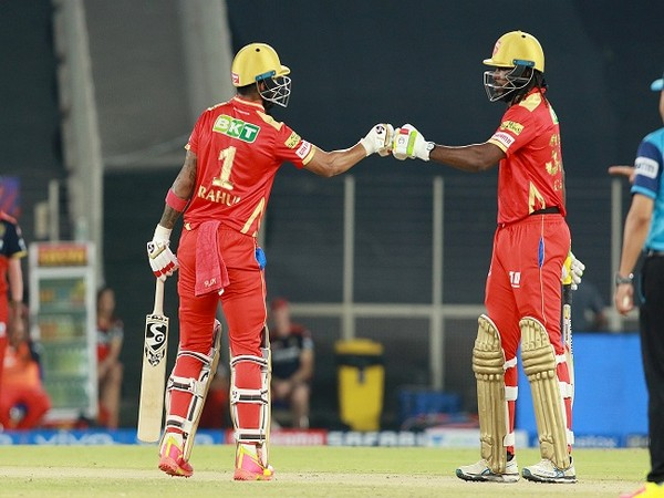 Punjab Kings skipper KL Rahul and Chris Gayle (Photo: BCCI/ IPL)
