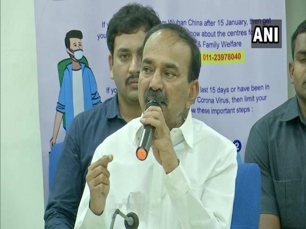 Portfolio of Telangana Medical, Health & Family Welfare minister Etala Rajendar transferred to Chief Minister with immediate effect on Saturday. [Photo/ANI]