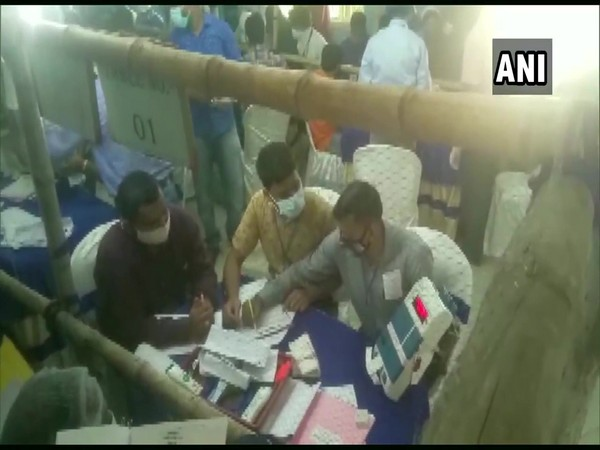 Counting of votes underway at a polling center in Nandigram on Sunday. [Photo/ANI]