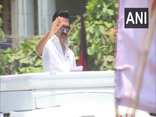 DMK President MK Stalin leads from Kolathur Assembly constituency. [Photo/ANI]