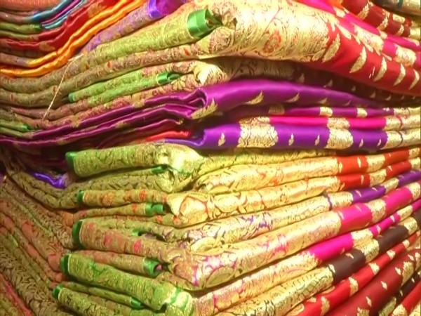 Banarasi sari weavers say they are facing huge loss due to COVID lockdown in UP. [Photo/ANI]