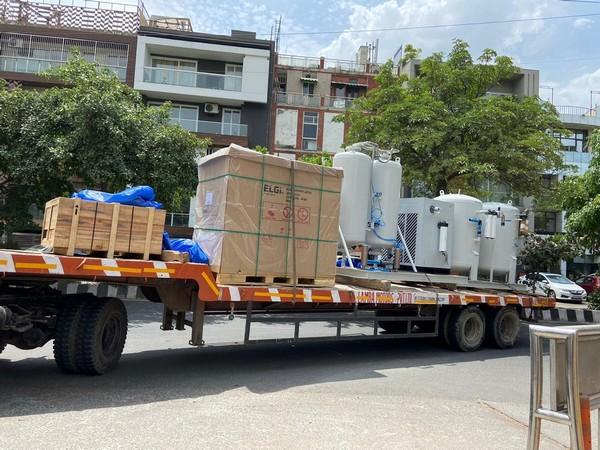 Two Liquid Oxygen plants reached Delhi (Photo/ANI)