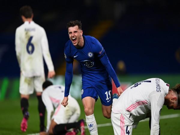 Mason Mount celebrates after scoring goal against Real Madrid (Photo/ Mason Mount Twitter)