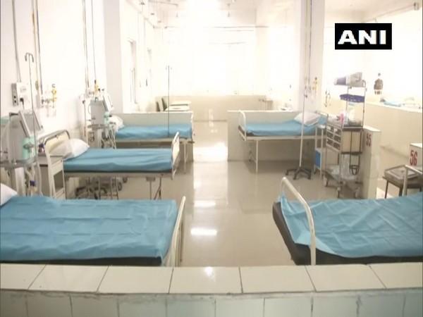 The 100-bed COVID facility set up at Faridabad on Tuesday. [Photo/ANI]