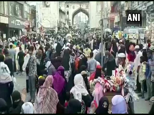 Visuals from Charminar in Hyderabad (ANI)