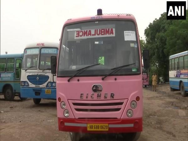 Panchkula depot converted 5 minibuses into ambulances. Photo/ANI