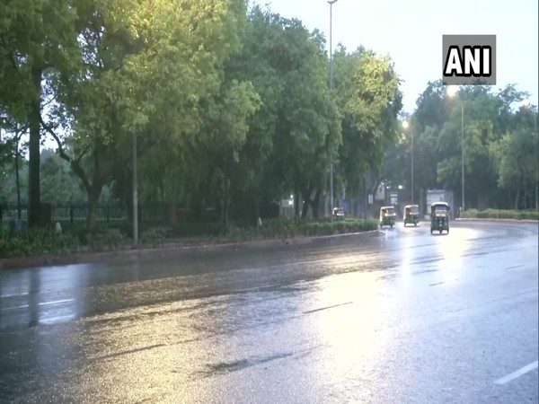 Delhi received brief spell of light rain today. [Photo/ANI]