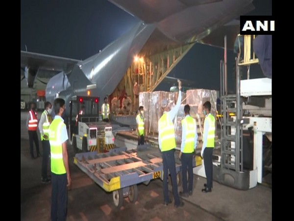 A consignment of medical supplies from Qatar reach India. (Photo/ANI)