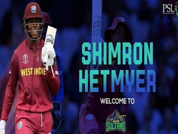 West Indies batsman Shimron Hetmyer (Image: Multan Sultan's Twitter)