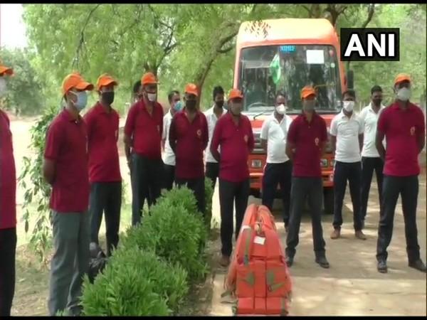 NDRF teams in Gujarat. (Photo/ANI)