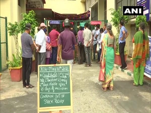 Locals waiting to get vaccinated in Bengaluru. (Photo/ANI)