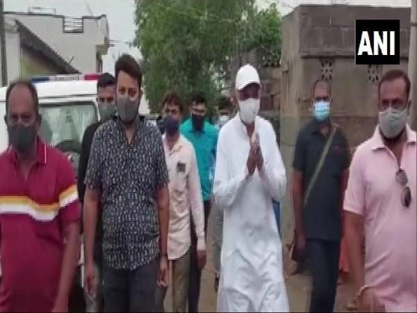 Cabinet Minister Kunvarjibhai Bavaliya's visit to Amreli (Photo/ANI)