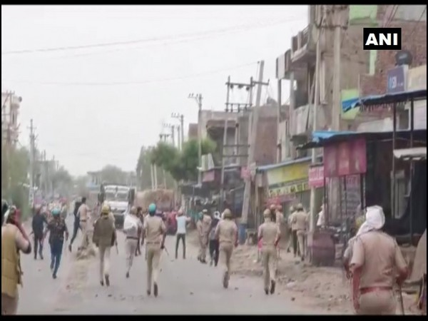 A visual of the clashes with the police on Monday (Photo/ANI)