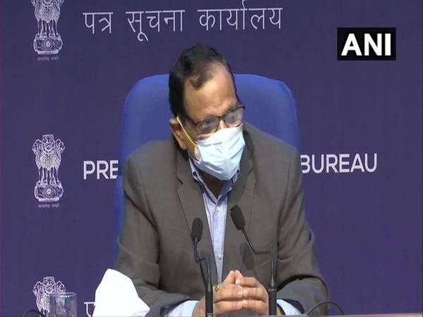 VK Paul, Member (Health), Niti Aayog addressing a press conference in Delhi on Tuesday. [Photo/ANI]