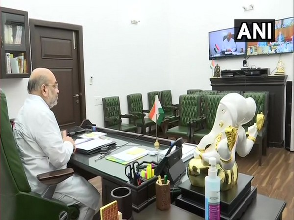 Union Home Minister Amit Shah holds meeting via video conference (Photo/ANI)
