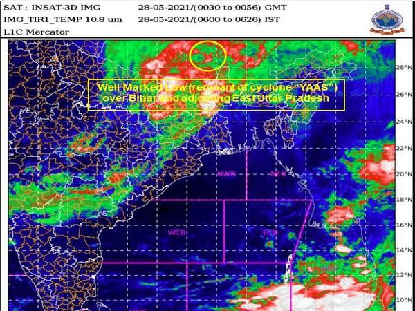 Visual representation of Cyclone Yaas (Photo: Twitter @Indiametdept)