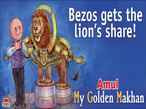 Amul's doodle celebrating Amazon's acquisition of MGM (Image source: Twitter)