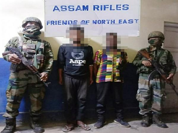 Assam Rifles arrested two active cadres of HPC-D (LK Hmar faction) in Manipur's Churachandpur.