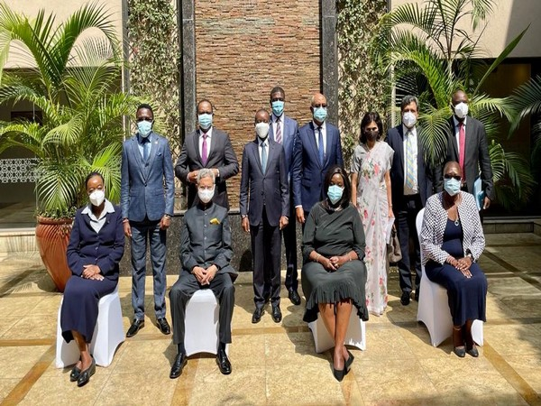 EAM Jaishankar with Kenyan Ministers on Monday (SOurce: S Jaishankar/Twitter)