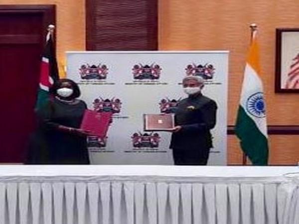 EAM S Jaishankar and his Kenyan counterpart Raychelle Omamo during India-Kenya Joint Commission meeting (Source: S Jaishankar/Twitter)