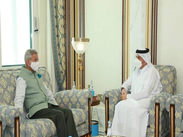 External Affairs Minister S Jaishankar and Qatar counterpart Mohammed bin Abdulrahman Al-Thani