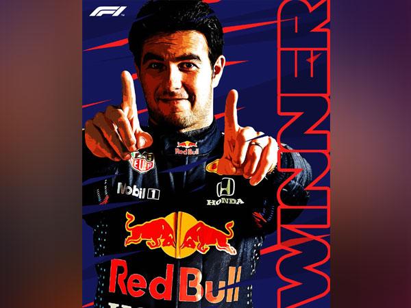 Sergio Perez wins Azerbaijan GP (Photo/ Formula 1 Twitter)