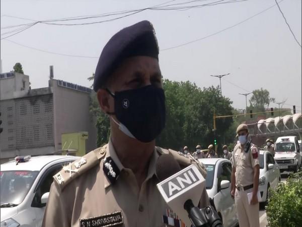 Delhi Police Commissioner SN Srivastava speaking to ANI