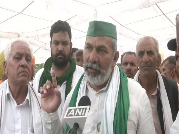 BKU leader Rakesh Tikait in conversation with ANI. (Photo/ANI)