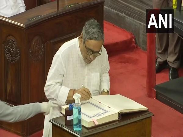 BJP leader Swapan Dasgupta in Rajya Sabha (Photo/ANI)