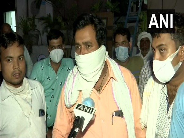 Attendant of a patient at paras Hospital speaking to ANI in Agra on Tuesday. [Photo/ANI]
