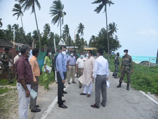Praful Khoda Patel reviewed development projects during hs visit to Kavaratti on Wednesday.