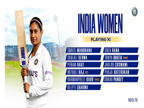 India women's team for Test against England. (Photo/ BCCI Women twitter)