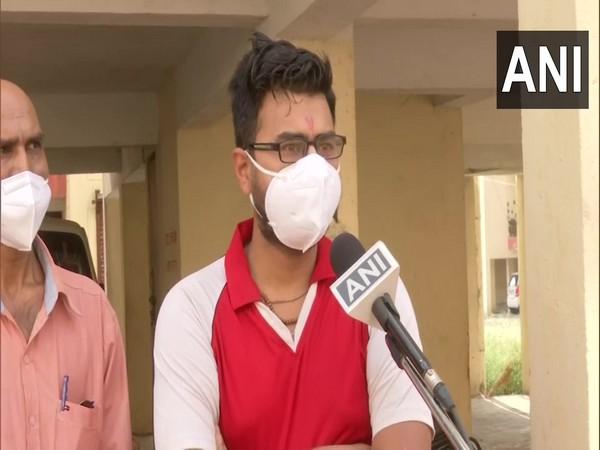 Bhopal resident Divyansh Jaiwar (Photo/ANI)