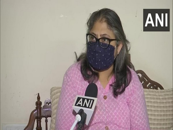 Rapper Aditya Tiwari's mother Deep Tiwari speaking to ANI in Delhi on Wednesday. (Photo/ANI)