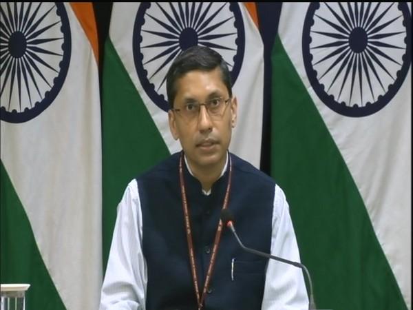 MEA spokesperson Arindam Bagchi at his weekly press briefing. (Photo/ANI)