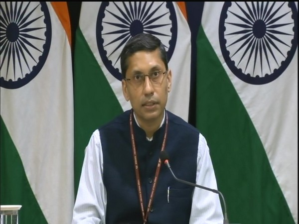 MEA spokesperson Arindam Bagchi speaking at his weekly briefing. (Photo/10cric offers)