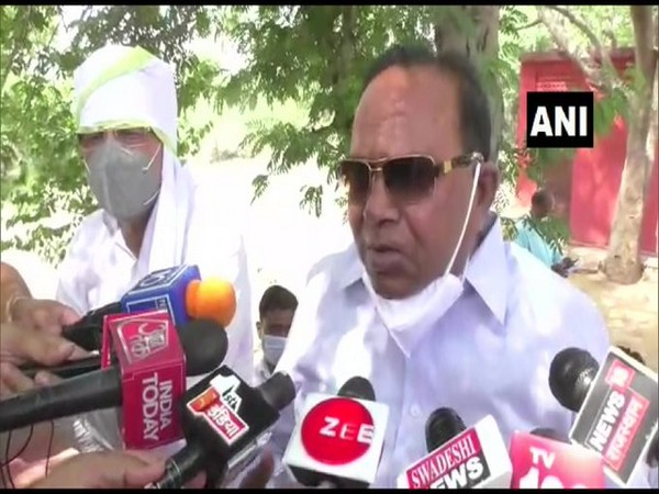 Congress MLA PR Meena speaking to reporters in Dausa on Friday. [Photo/ANI]