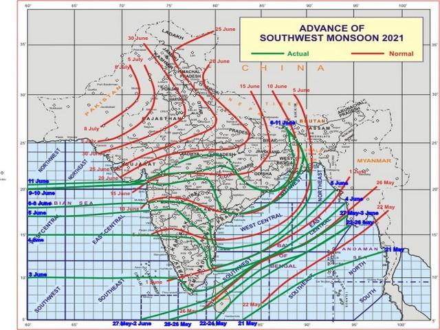 Advance of Southwest Monsoon (Photo: IMD)